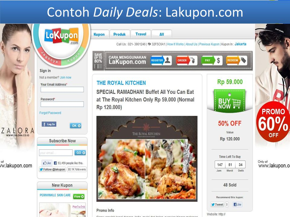 Contoh Daily Deals: Lakupon.com