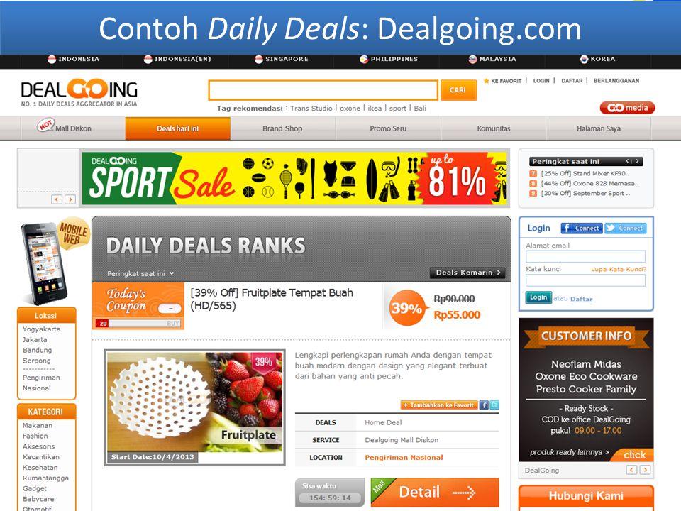 Contoh Daily Deals: Dealgoing.com