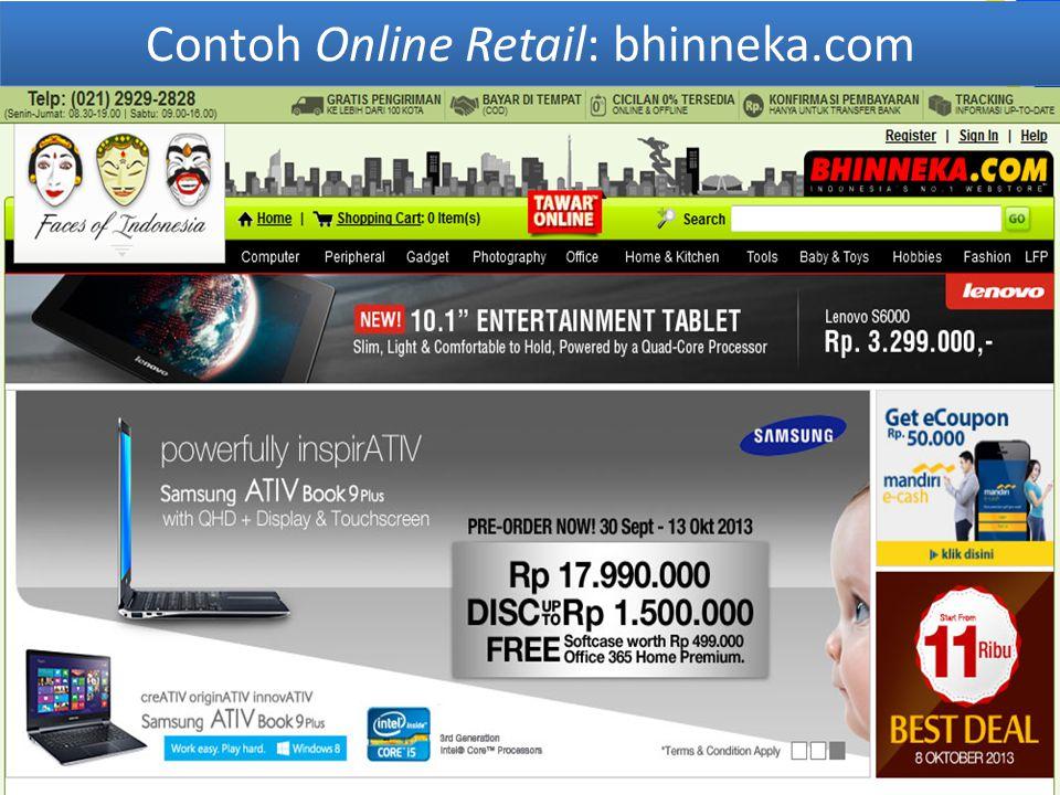 Contoh Online Retail: bhinneka.com