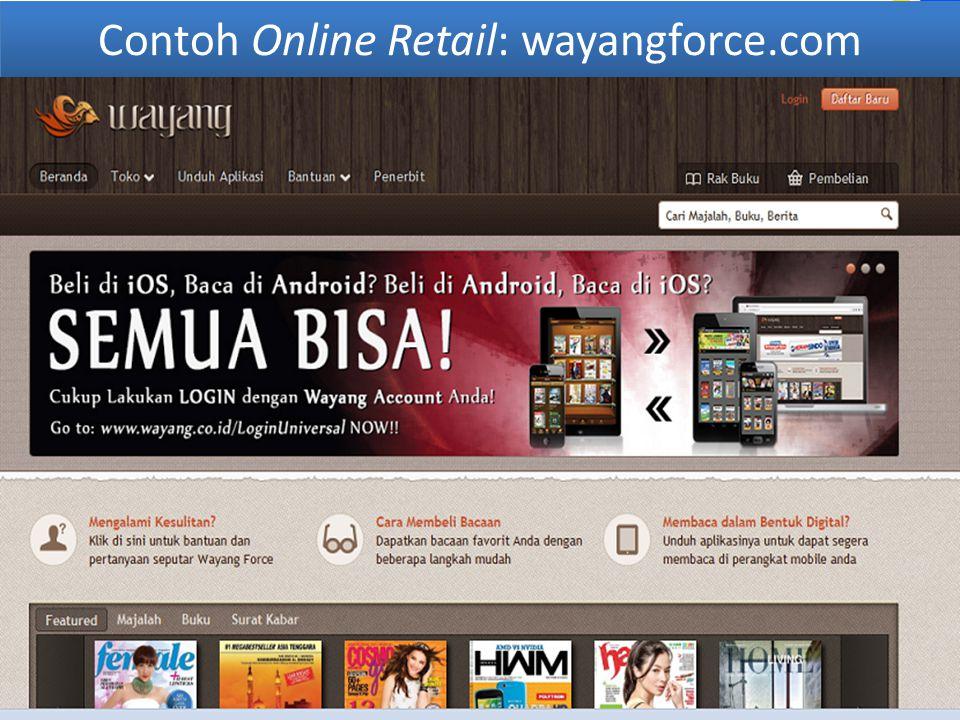 Contoh Online Retail: wayangforce.com