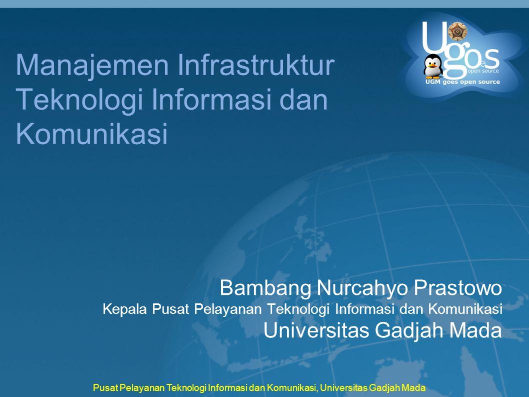Pusat Pelayanan Teknologi Informasi dan Komunikasi, Universitas Gadjah Mada Manajemen Infrastruktur Teknologi Informasi dan Komunikasi Bambang Nurcahy