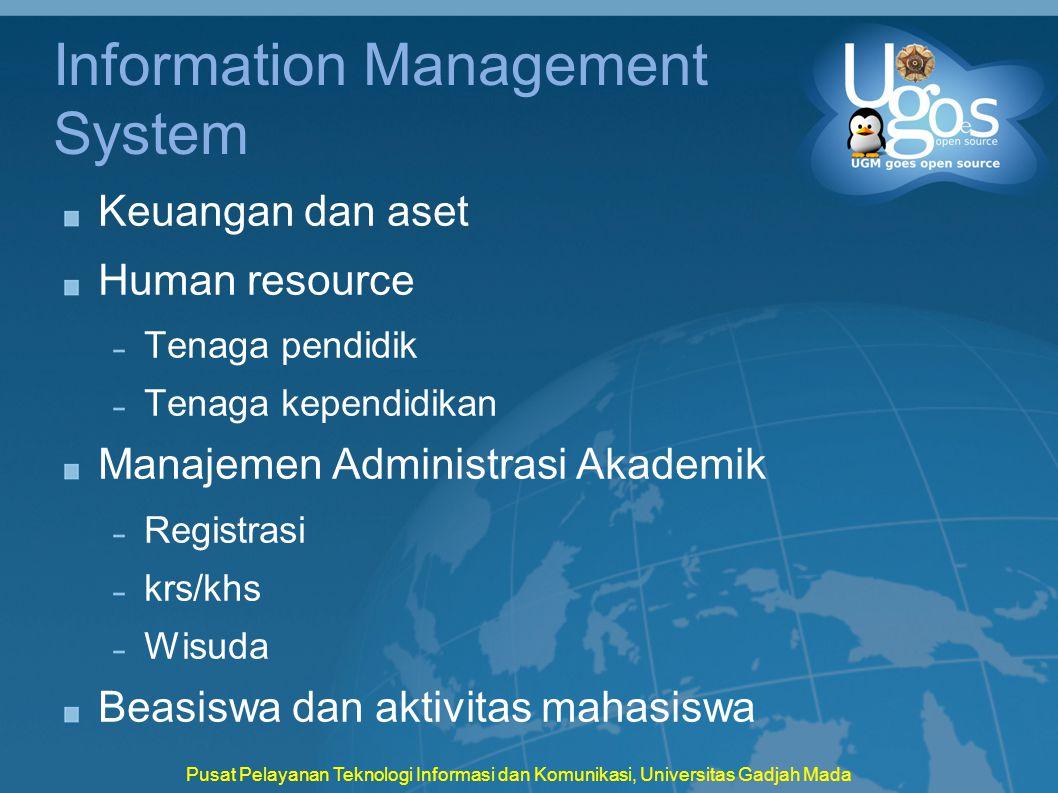 Information Management System Keuangan dan aset Human resource Tenaga pendidik Tenaga kependidikan Manajemen Administrasi Akademik Registrasi krs/khs