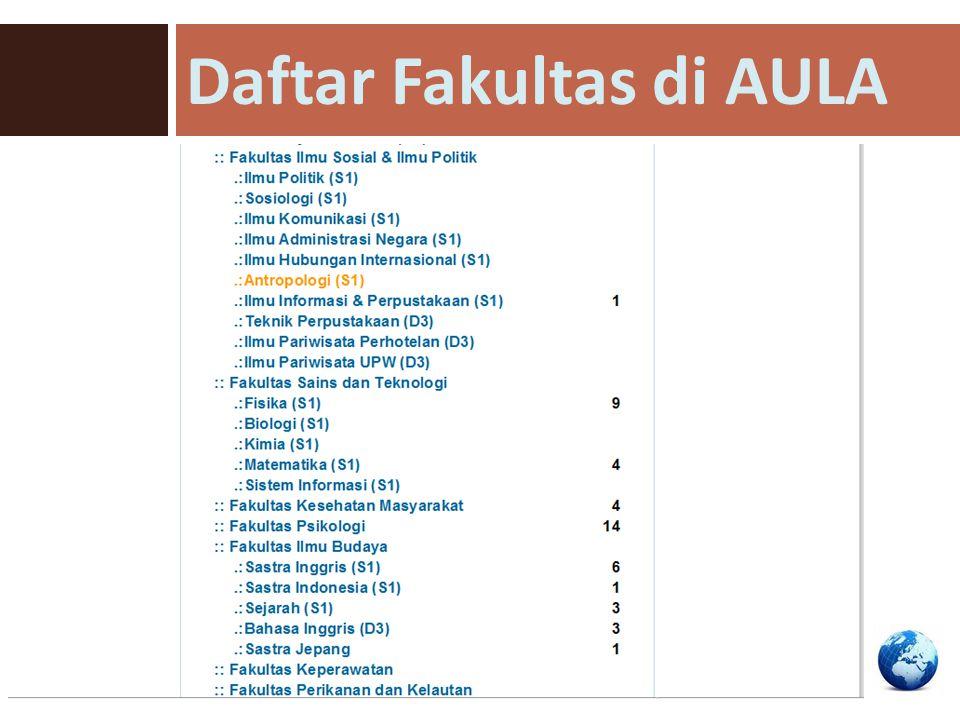 Daftar Fakultas di AULA