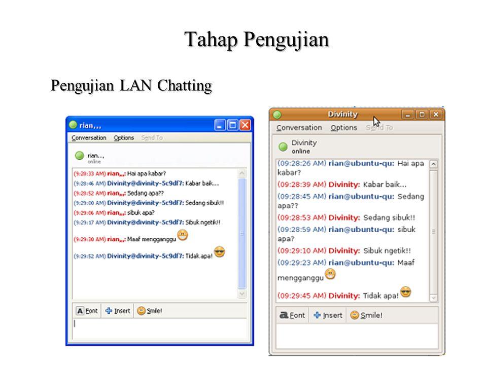Pengujian LAN Chatting