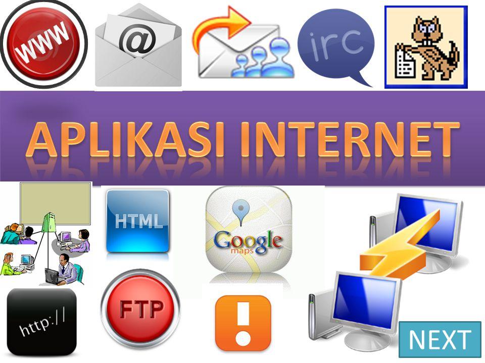 Aplikasi Internet HTTP Aplikasi internet HTTP (Hypertext Transfer Protokol) adalah aplikasi internet yang berfungsi untuk membaca halaman-halaman webpage di webserver melalui browser.