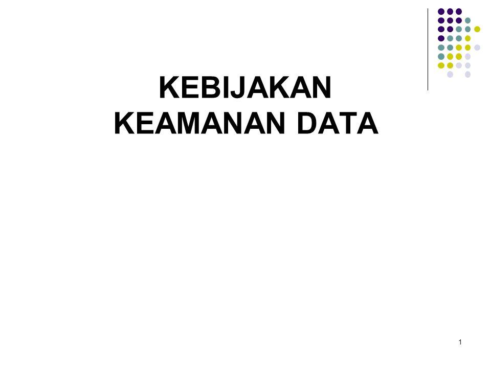 1 KEBIJAKAN KEAMANAN DATA