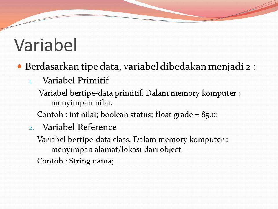 Tipe Data Primitif