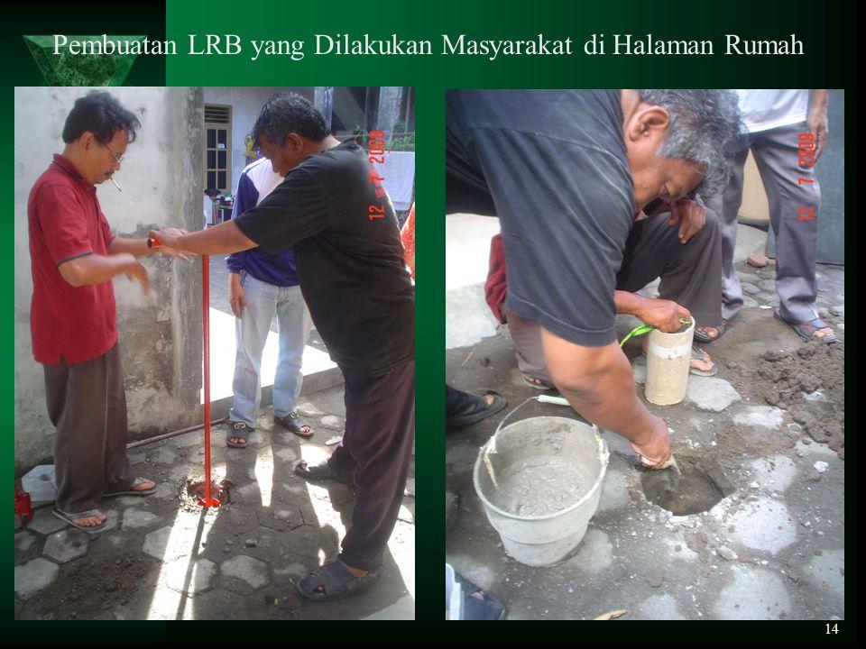 14 Pembuatan LRB yang Dilakukan Masyarakat di Halaman Rumah