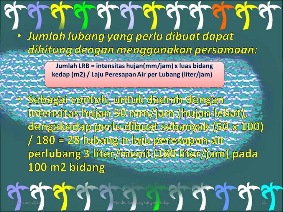 13 Juni 2012Pendidikan Lingkungan Hidup11