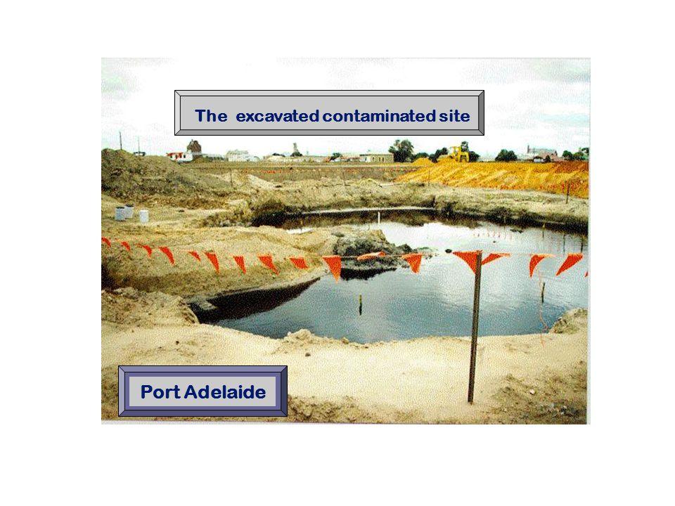 The excavated contaminated site Port Adelaide