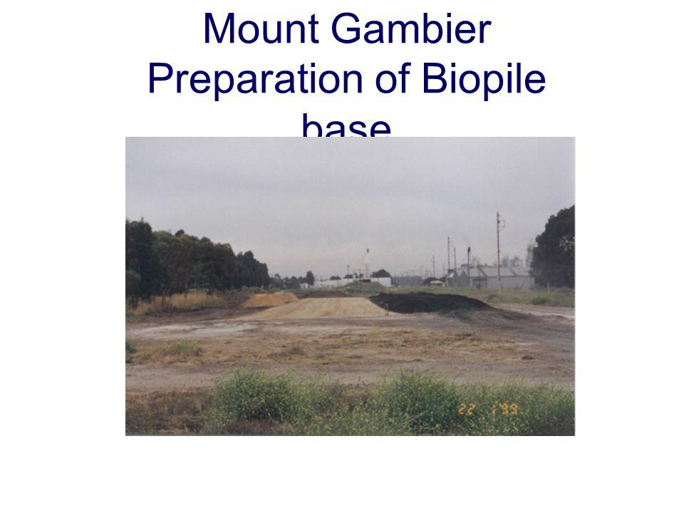Mount Gambier Preparation of Biopile base