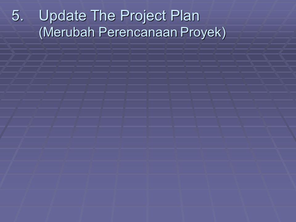 5.Update The Project Plan (Merubah Perencanaan Proyek)