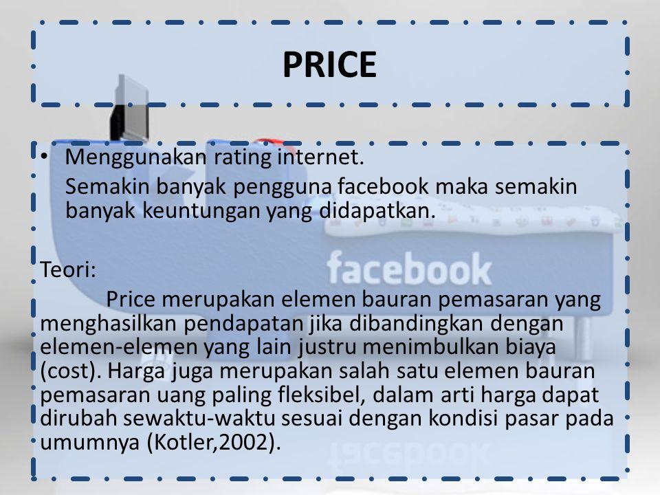 Menggunakan rating internet.