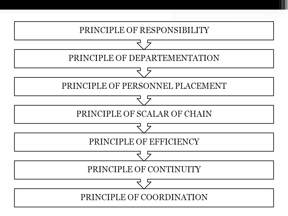 PRINSIP-PRINSIP ORGANISASI PRINCIPLE OF PARITY OF AUTHORITY AND RESPONSIBILITY PRINCIPLE OF DELEGATION OF AUTHORITY PRINCIPLE OF SPAN OF MANAGEMENT PR
