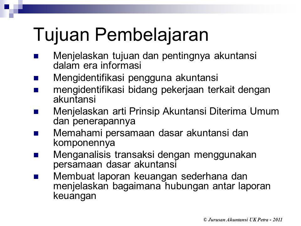 © Jurusan Akuntansi UK Petra - 2011 Pemilik perseroan disebut dengan pemegang saham (shareholders or stockholders).