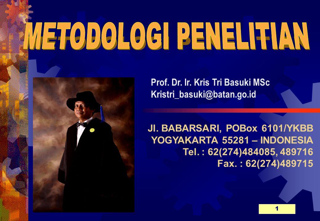 Jl.BABARSARI, POBox 6101/YKBB YOGYAKARTA 55281 – INDONESIA Tel.