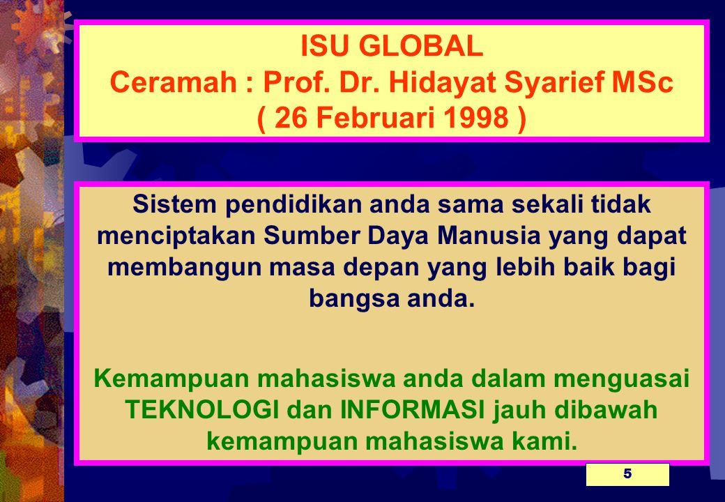 ISU GLOBAL Ceramah : Prof.Dr.