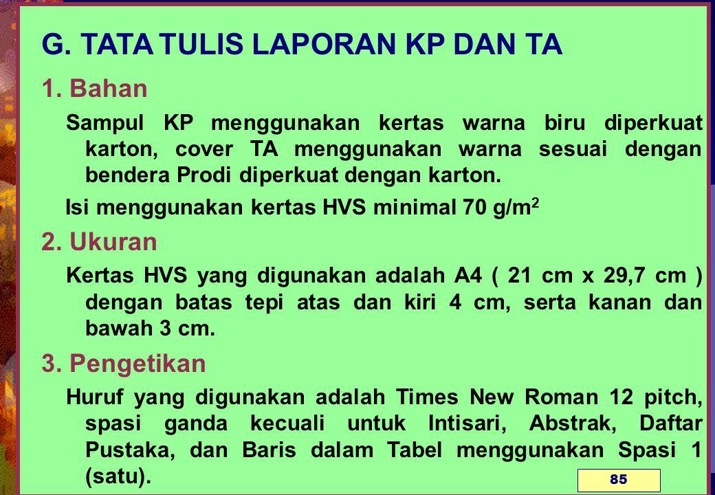 G.TATA TULIS LAPORAN KP DAN TA 1.