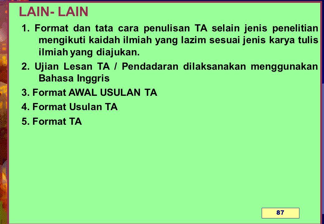 LAIN- LAIN 1.