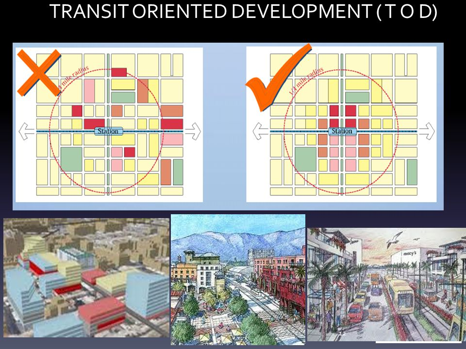 TRANSIT ORIENTED DEVELOPMENT ( T O D) 12