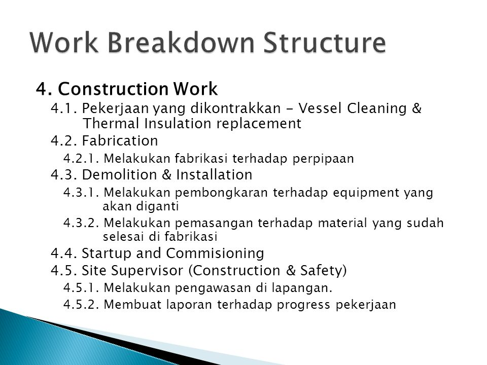 4.Construction Work 4.1.