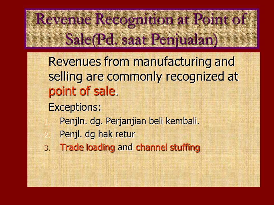Menekankan Pd diterimanya hsl penagihan drpd penjualan.Metode ini mengakui laba dlm periode2 diterimanya hasil penagihan dan bukan dlm periode penjualan.