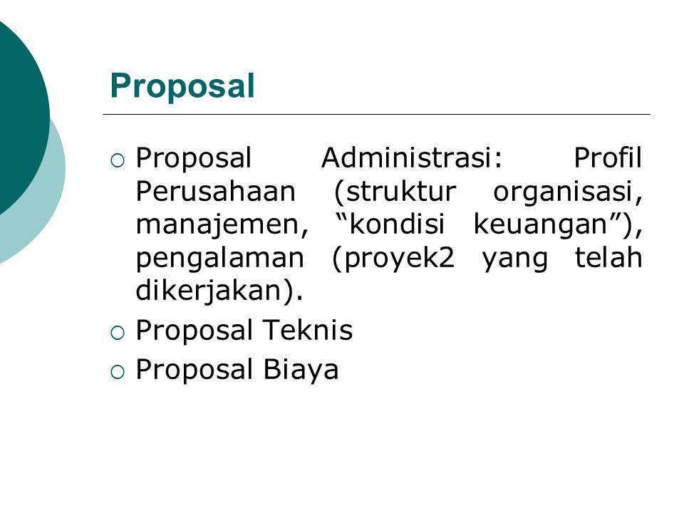 Kesalahan utama pada proposal dapat disebabkan 2 hal :  Tidak menawar, yang mana seharusnya bisa ditawar.