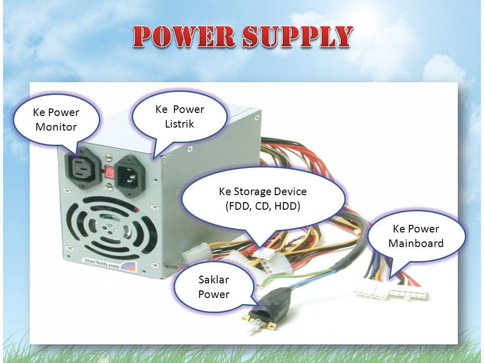 Ke Power Monitor Ke Power Listrik Ke Power Mainboard Saklar Power Ke Storage Device (FDD, CD, HDD)