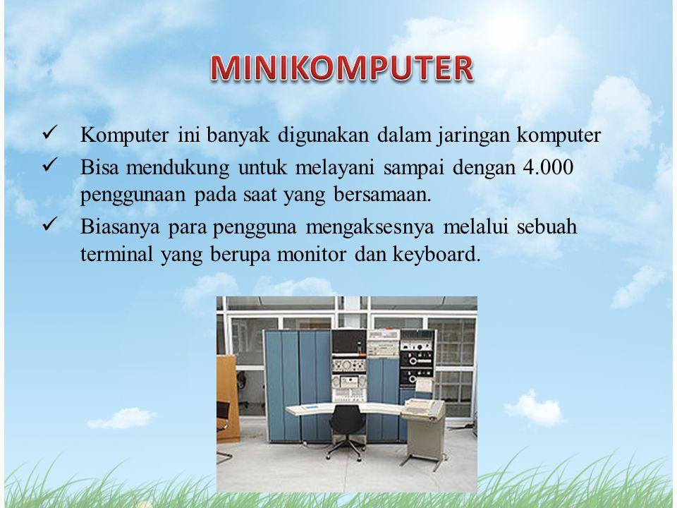 Komputer ini banyak digunakan dalam jaringan komputer Bisa mendukung untuk melayani sampai dengan 4.000 penggunaan pada saat yang bersamaan. Biasanya