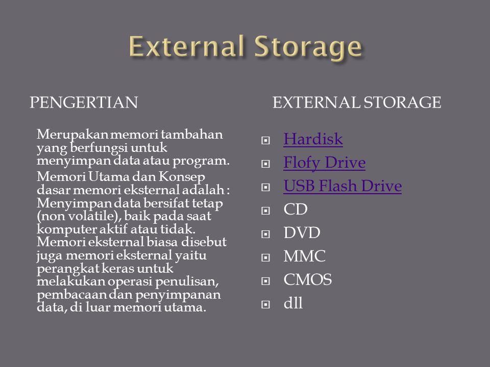 Memori jenis ini dapat diakses secara langsung oleh prosesor. Memori internal memiliki fungsi sebagai pengingat. Dalam hal ini yang disimpan di dalam