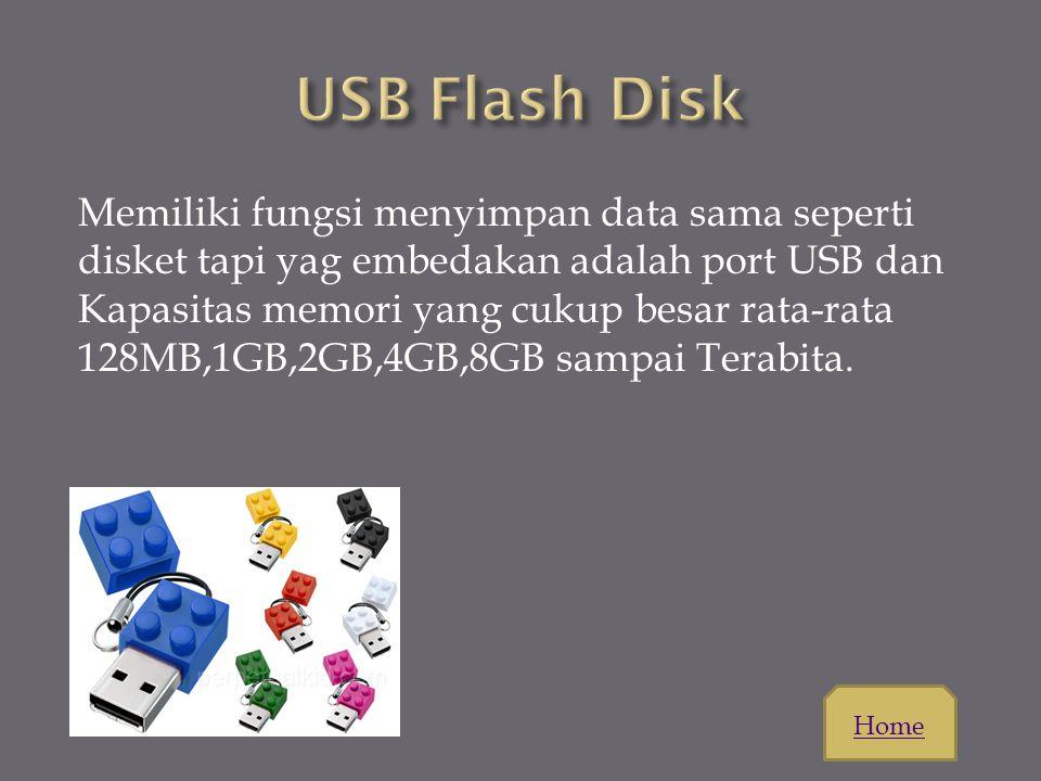  Secara fisik, floppy yang saat ini sering digunakan terbagi atas 2 jenis, yaitu 5,25 inchi dan 3,5 inchi, dimana masing-masing ukuran memiliki 2 typ