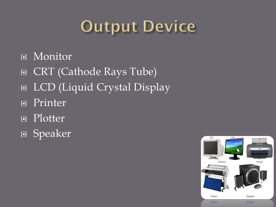  Input Device Input device berfungsi untuk memasukkan data atau perintah ke dalam komputer. Contoh – contoh input device adalah :  Keyboard Keyboard