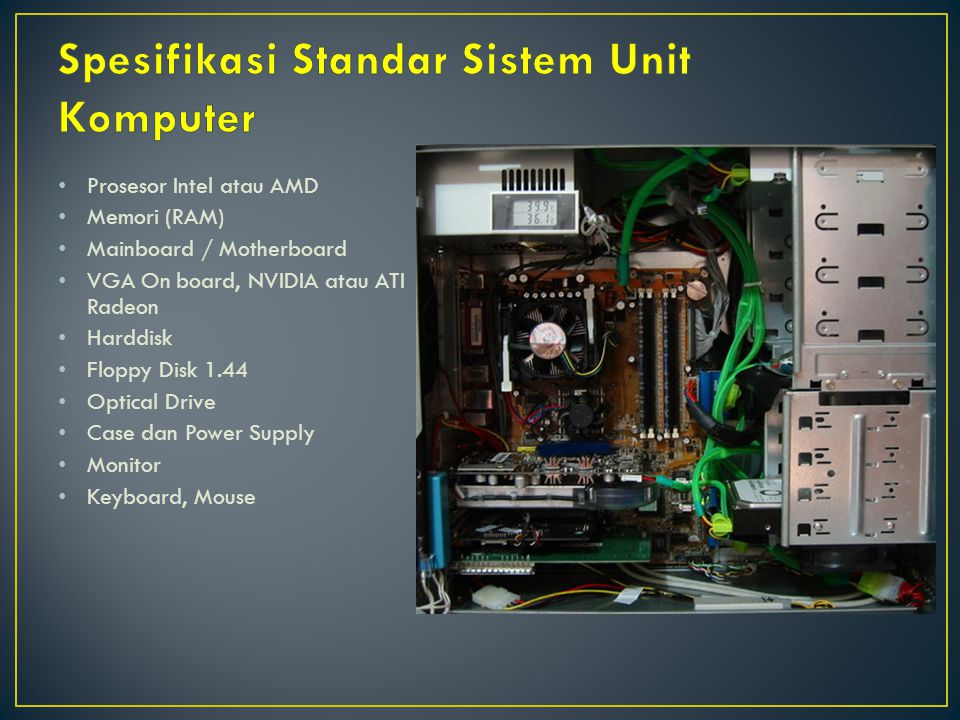 Operating System (OS) Driver-driver pendukung hardware Software-software aplikasi Software Open Source
