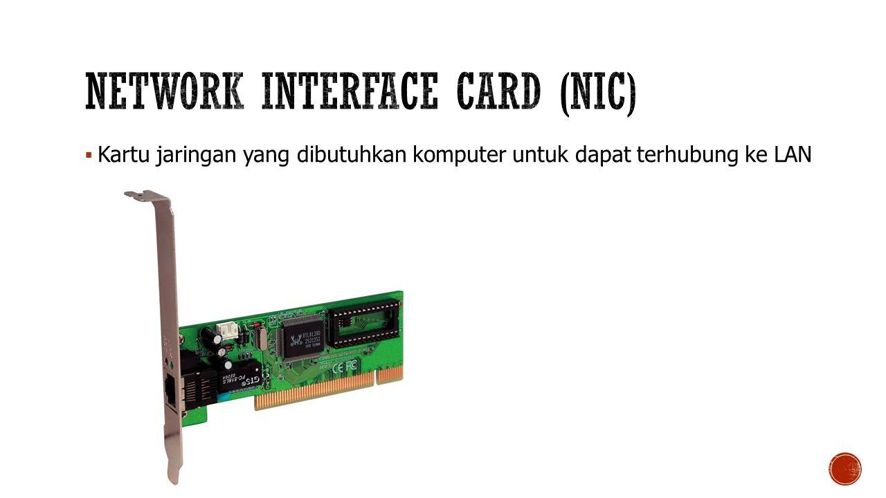  Kartu jaringan yang dibutuhkan komputer untuk dapat terhubung ke LAN
