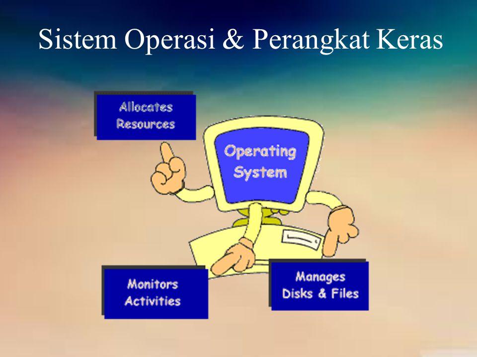 I/O Devices Salah satu perangkat keras yang paling sering melakukan interaksi dengan sistem operasi.