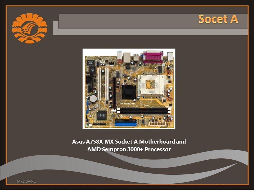 Asus A7S8X-MX Socket A Motherboard and AMD Sempron 3000+ Processor