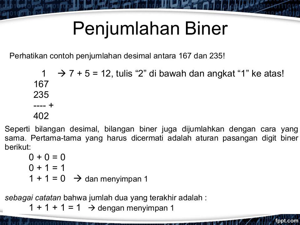 Penjumlahan Biner