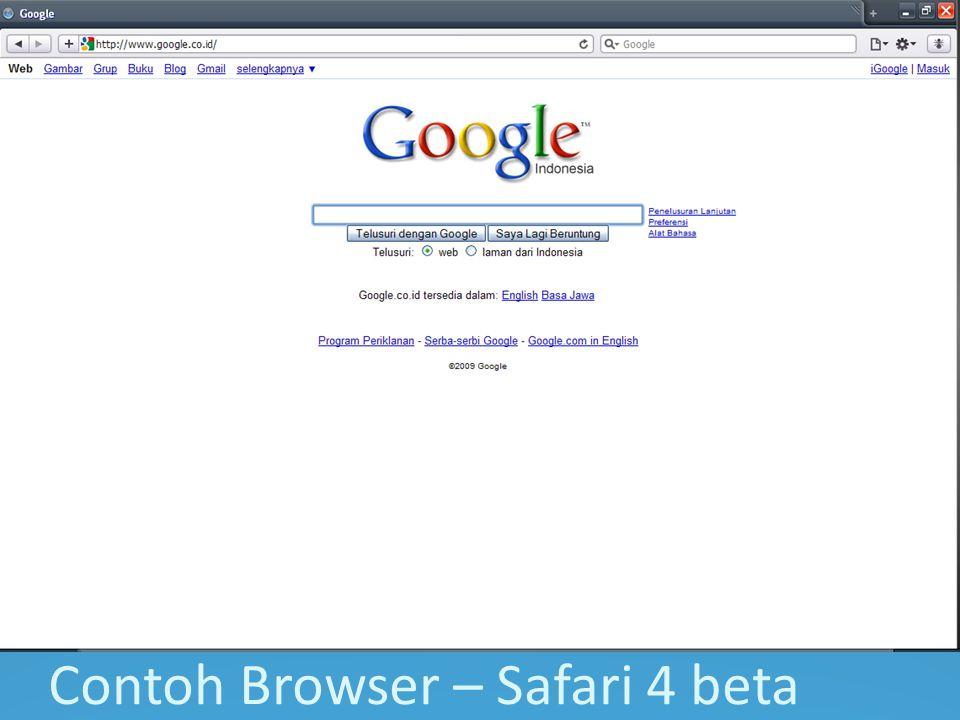 Contoh Browser – Safari 4 beta