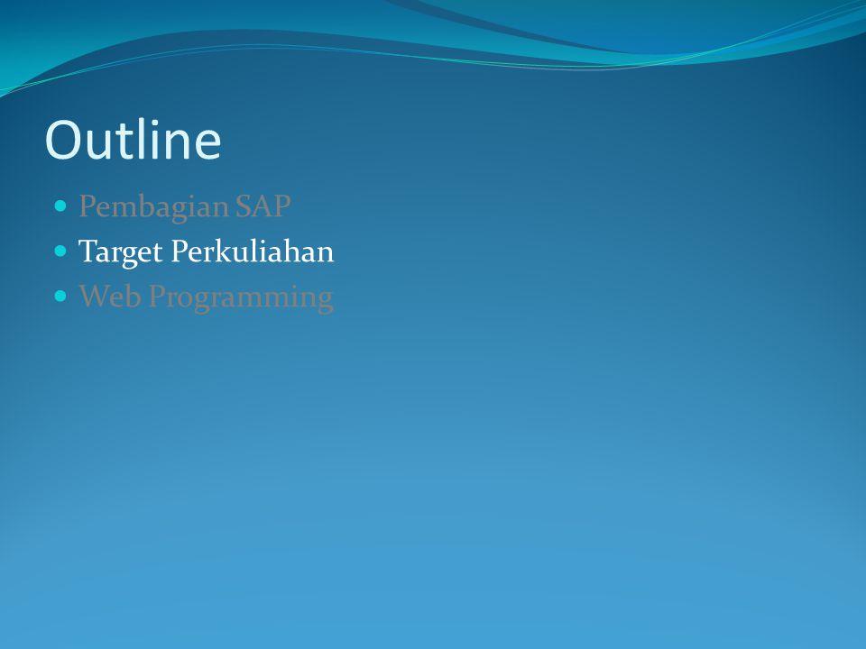 Outline Pembagian SAP Target Perkuliahan Web Programming