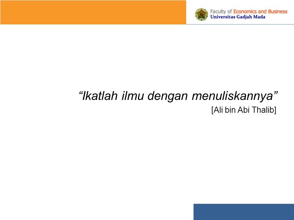 Ikatlah ilmu dengan menuliskannya [Ali bin Abi Thalib]