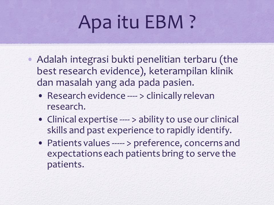Apa itu EBM .