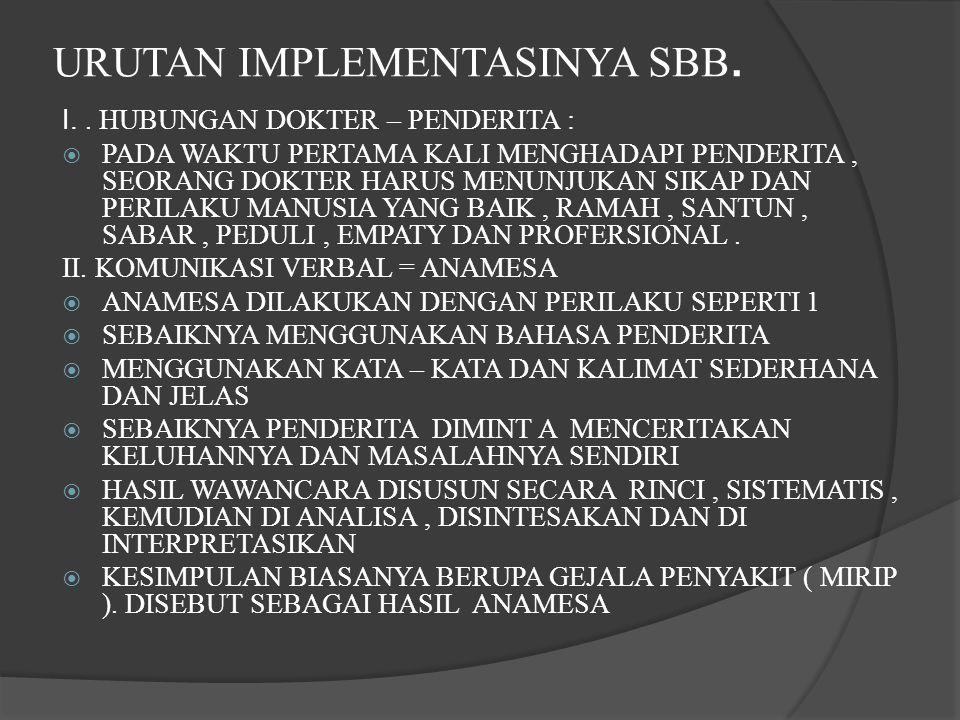 URUTAN IMPLEMENTASINYA SBB.I..