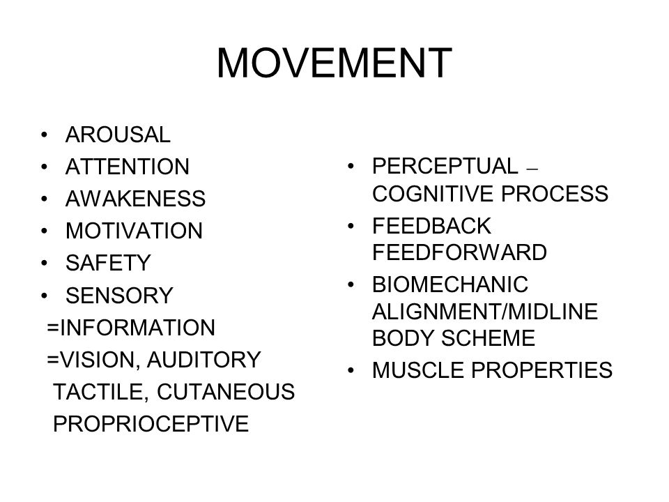 Components of Normal Movement  Appropriate postural tonus  selective movement  Patterns of movement