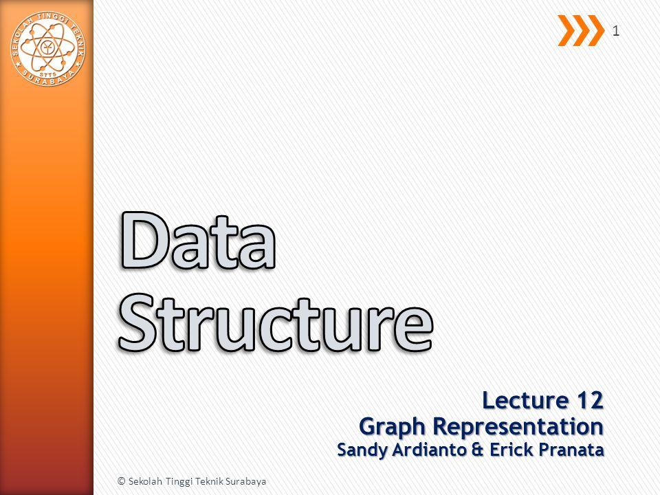Lecture 12 Graph Representation Sandy Ardianto & Erick Pranata © Sekolah Tinggi Teknik Surabaya 1