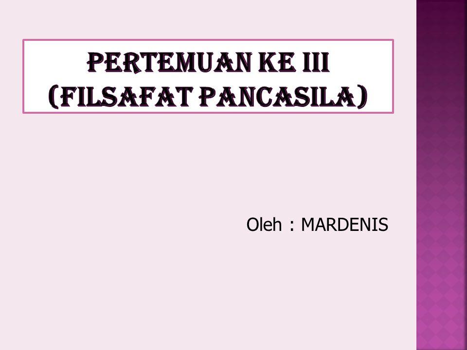Oleh : MARDENIS