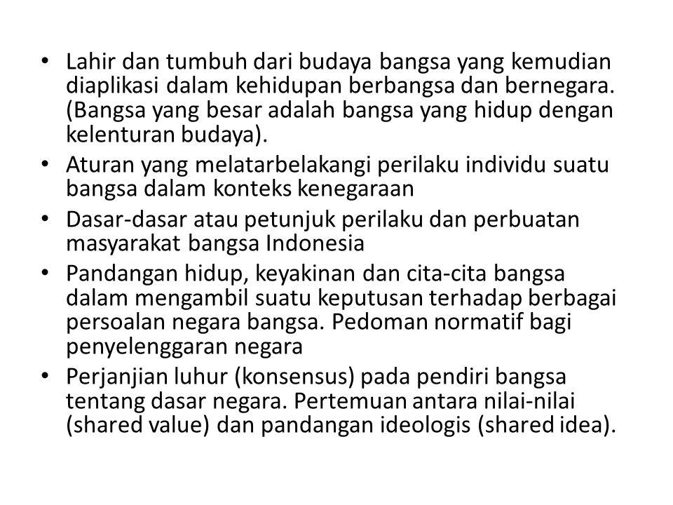 Fase Pembuahan Dasar Negara 1924 ( PI ), empat prinsip dasar : Solidaritas, Non Kooperasi, Kemandirian dan Kesatuan Indonesia 1925 (Tan Malaka), Kedaulatan Rakyat – Komunis+Islam.