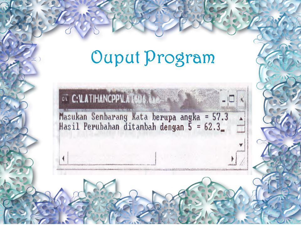 Contoh Fungsi atof(),