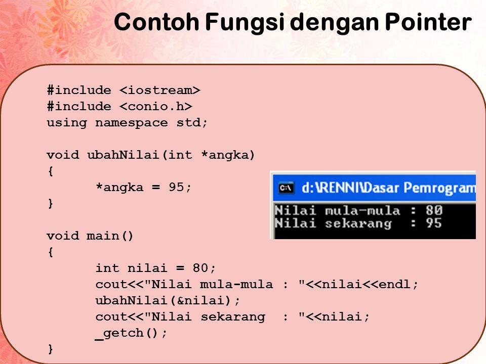 Contoh Cara 1 #include using namespace std; string KAPITAL(string str) { for (int i=0; i<str.length(); i++) { str[i] = toupper(str[i]); } return str; } void main () { string nama = Renni Angreni ; nama = KAPITAL(nama); cout<<nama<<endl; _getch(); }