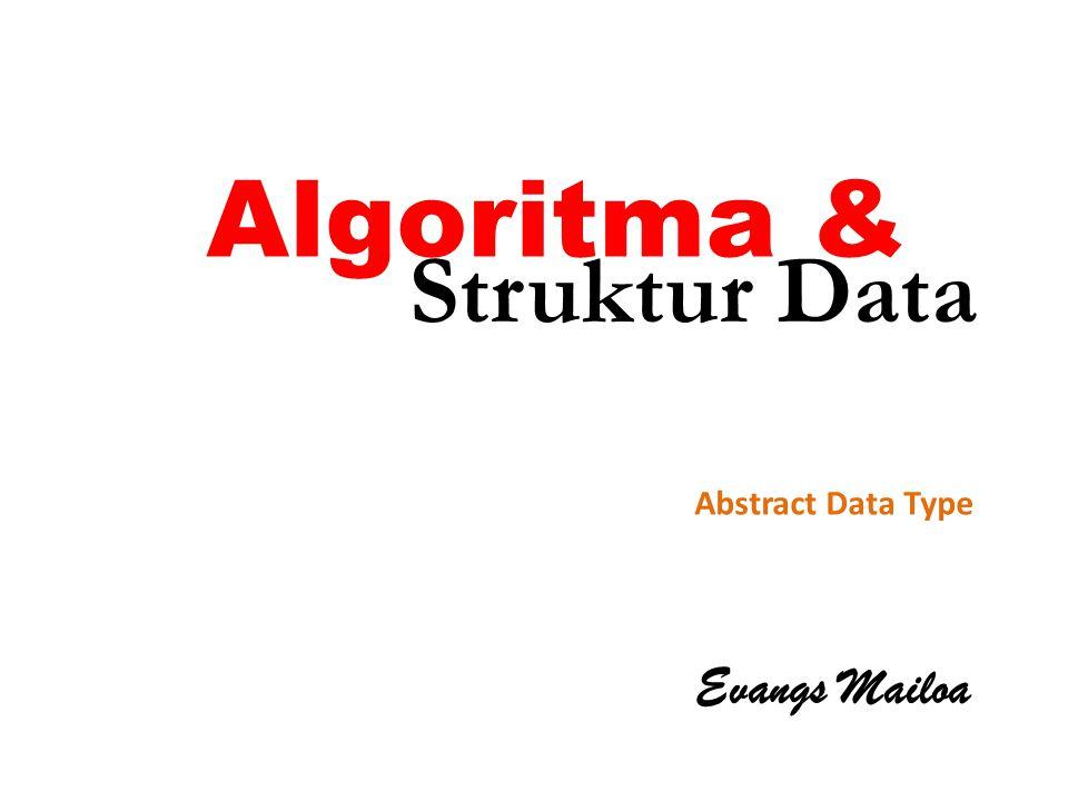Algoritma & Evangs Mailoa Abstract Data Type Struktur Data