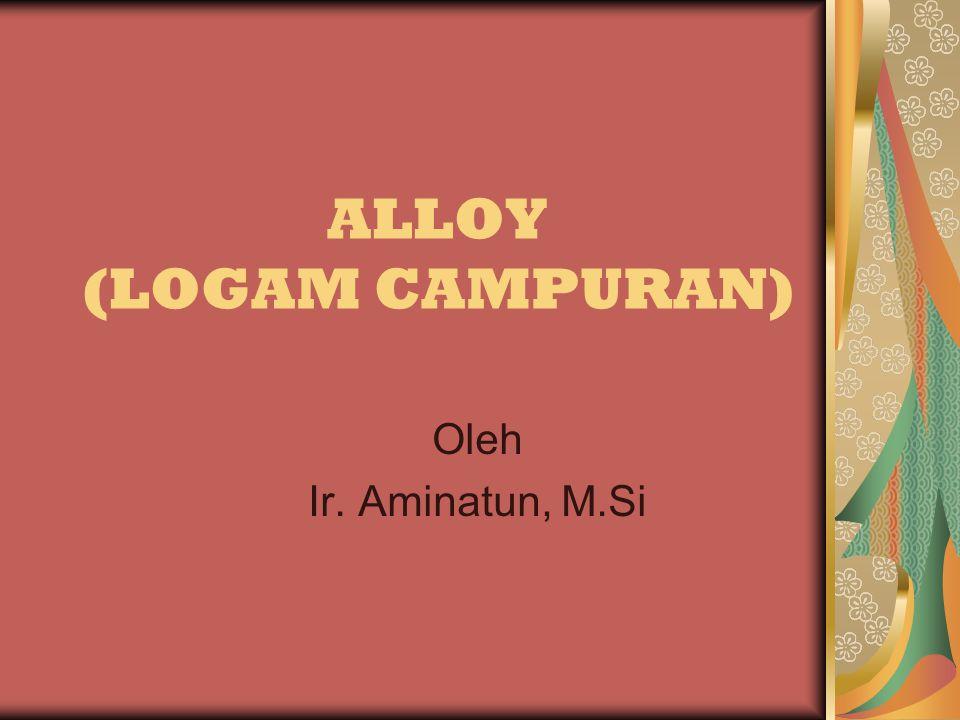 ALLOY (LOGAM CAMPURAN) Oleh Ir. Aminatun, M.Si